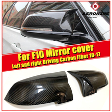 2pcs Auto Car Rear View Left Right Driving Side Mirror Cover For BMW 5-series F10 Carbon 1:1 Replacement Wing 10-17