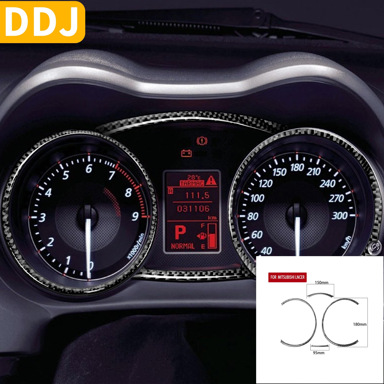 For Mitsubishi Lancer EVO X MR 2008-2015 Speedometer Panel Frame Carbon Fiber Sticker Interior Trim Car Accessories