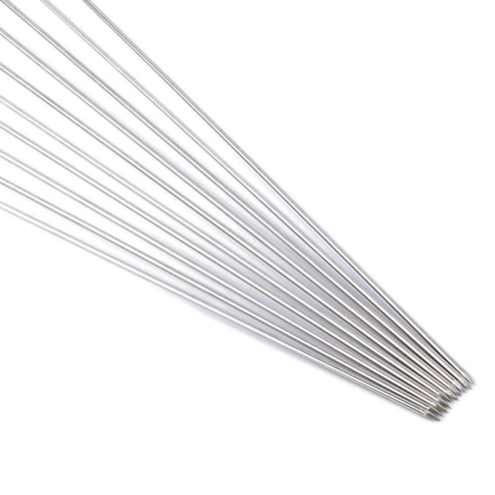 10 pçs piquenique ao ar livre churrasco espeto assado vara agulha de aço inoxidável