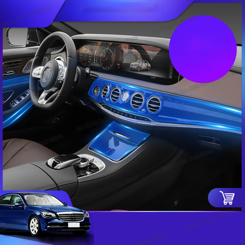 Lsrtw2017 TPU Car Dashboard Film Navigation Gear Protective Sticker For Mercedes Benz S Class 2014 2015 2017 2018 2019 W222