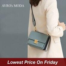 AVRO S MODAแฟชั่นกระเป๋าถือผู้หญิงไหล่กระเป๋าสุภาพสตรีของแท้หนังCrossbodyสแควร์Messenger Flapขนาดเล็กกระเป๋า