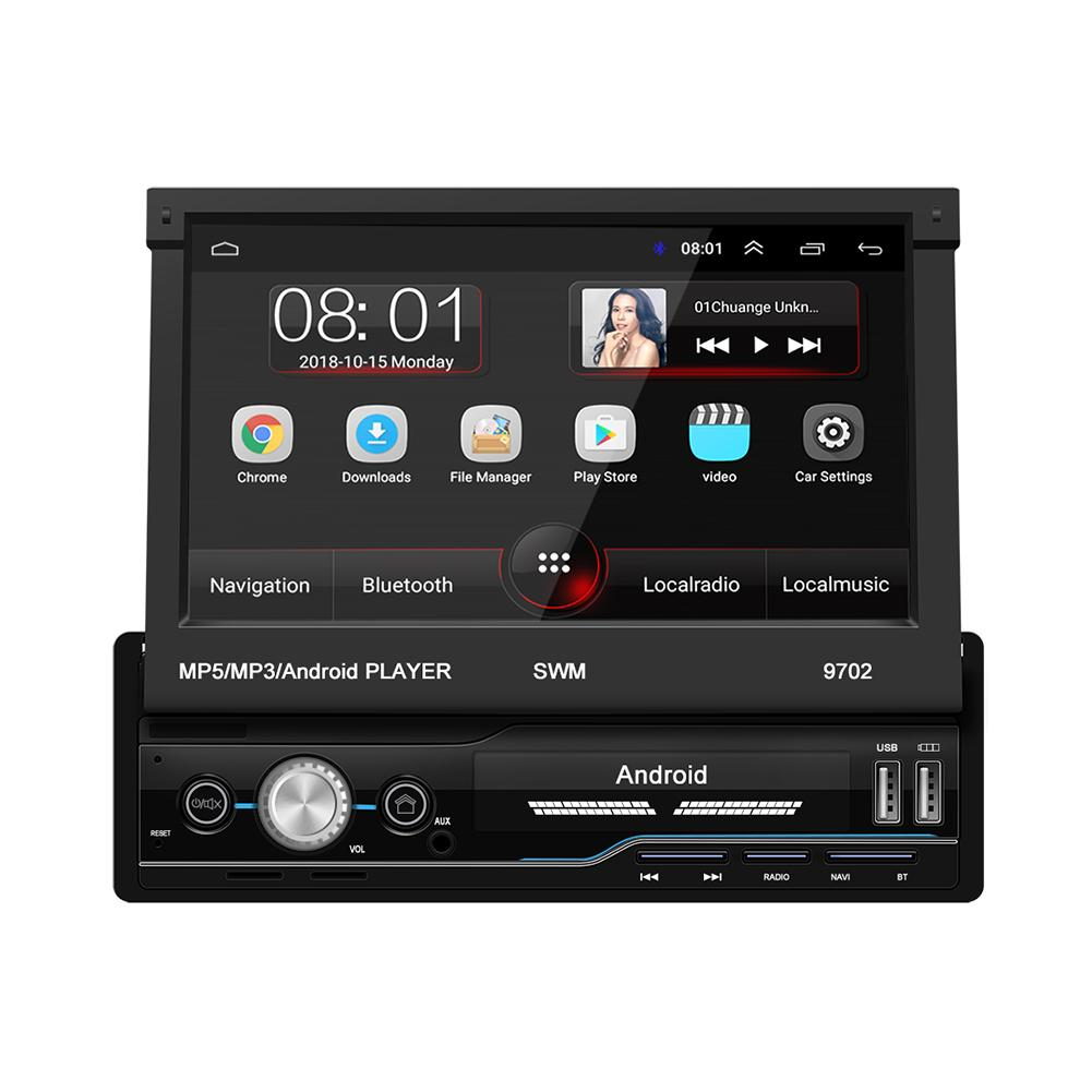 Car MP5 Player 7 Inch Car Radio 16G Android 8.1 GPS Navigation Russia&Europe Map Wifi USB Charging 1 Din HD Touch Screen&camera image