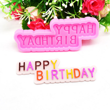 Happy Birthday Letter Form Silicone Mold letter Gumpaste Chocolate Fondant Cake Decoration Tools Cupcake Mould Kithcen Bakeware ttlife 3d daisy flower shape silicone mold pastry cupcake chocolate soap bakeware mould fondant cake sugarcraft decoration tools
