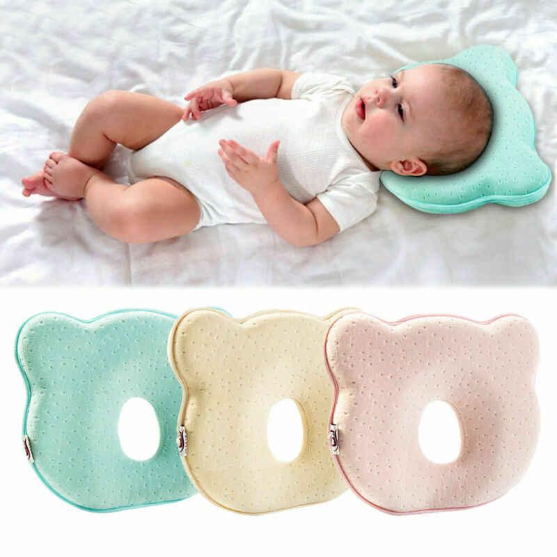 אופנה חדש לגמרי מוצק צבע עיצוב אורטופדי תינוק כרית נגד עיוות שטוח ראש תינוק רך כרית