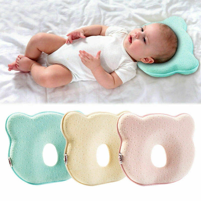 Fashion Brand New Solid Color Design Orthopedic Baby Pillow Against Deformation Flat Head Baby Soft Pillow