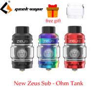Geekvape Zeus sub ohm tank 5ml capacity atomizer with Mesh Z1 Coil 0.4ohm/0.2ohm ZEUS SUBOHM tank For Aegis mod VS ZEUS X