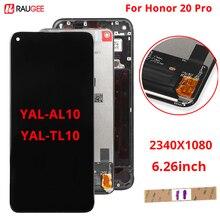 Huawei honor 20 Pro LCD 디스플레이 터치 스크린 용 디스플레이 huawei honor 20 Pro YAL AL10/TL10 용 새로운 디지타이저 어셈블리 화면