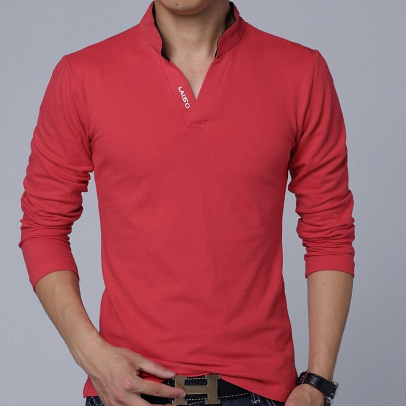 Polo   Shirt Men Long Sleeve Solid   Polo   Shirts Camisa Poloshirts Masculina Casual Cotton Plus size M- XXXL 4XL 5XL Tops Man's Tees