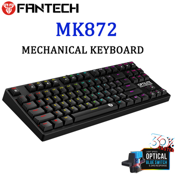 Fantech MK872 Gaming Keyboard RGB Backlit Keyboard Optical Switch Mechanical Keyboard Waterproof E-sports Mechanical Keyboard фото