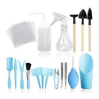 Herramientas para plantas suculentas, minijuego de herramientas de jardín, herramienta para transplantar...