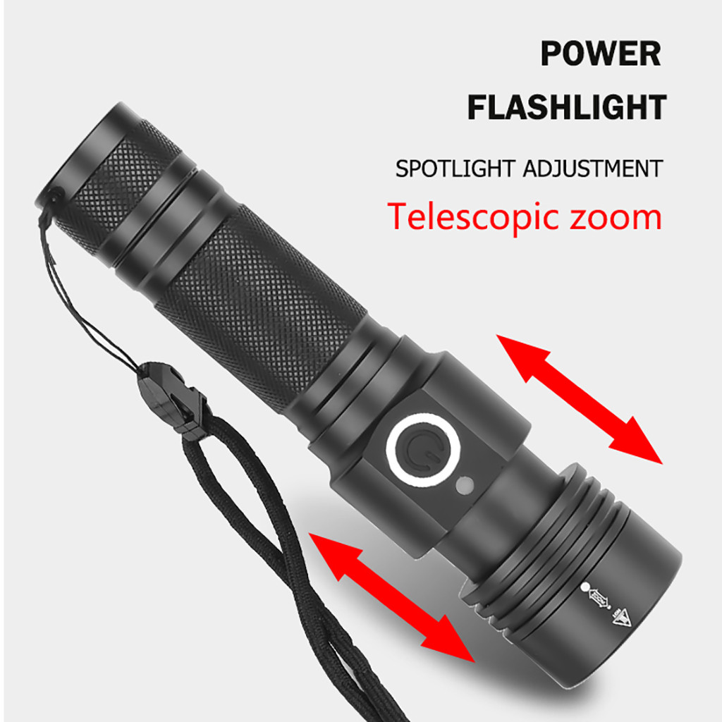 Image 4 - Aluminum Alloy XHP50 LED Flashlight 4 Modes Outdoor Torch Charge display Taschenlampe Jagdlampe Camping Lampe 1x18650 Battery-in LED Flashlights from Lights & Lighting