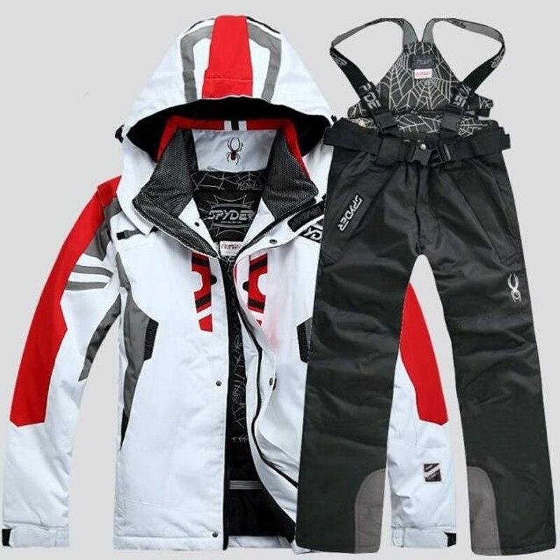 2020 NEW Men Warm Snowboarding Suits Men Winter Ski Suit Male Waterproof Breathable Snow Jacket +Pant Ski Sets Set De Snowboard