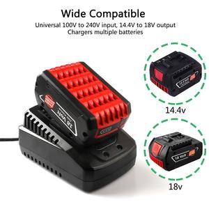 Image 2 - Сменное зарядное устройство 3.0A для Bosch 14,4 в 18 в, аккумулятор BAT609G BAT618 BAT618G BAT609, зарядное устройство для литиевых батарей быстрой зарядки