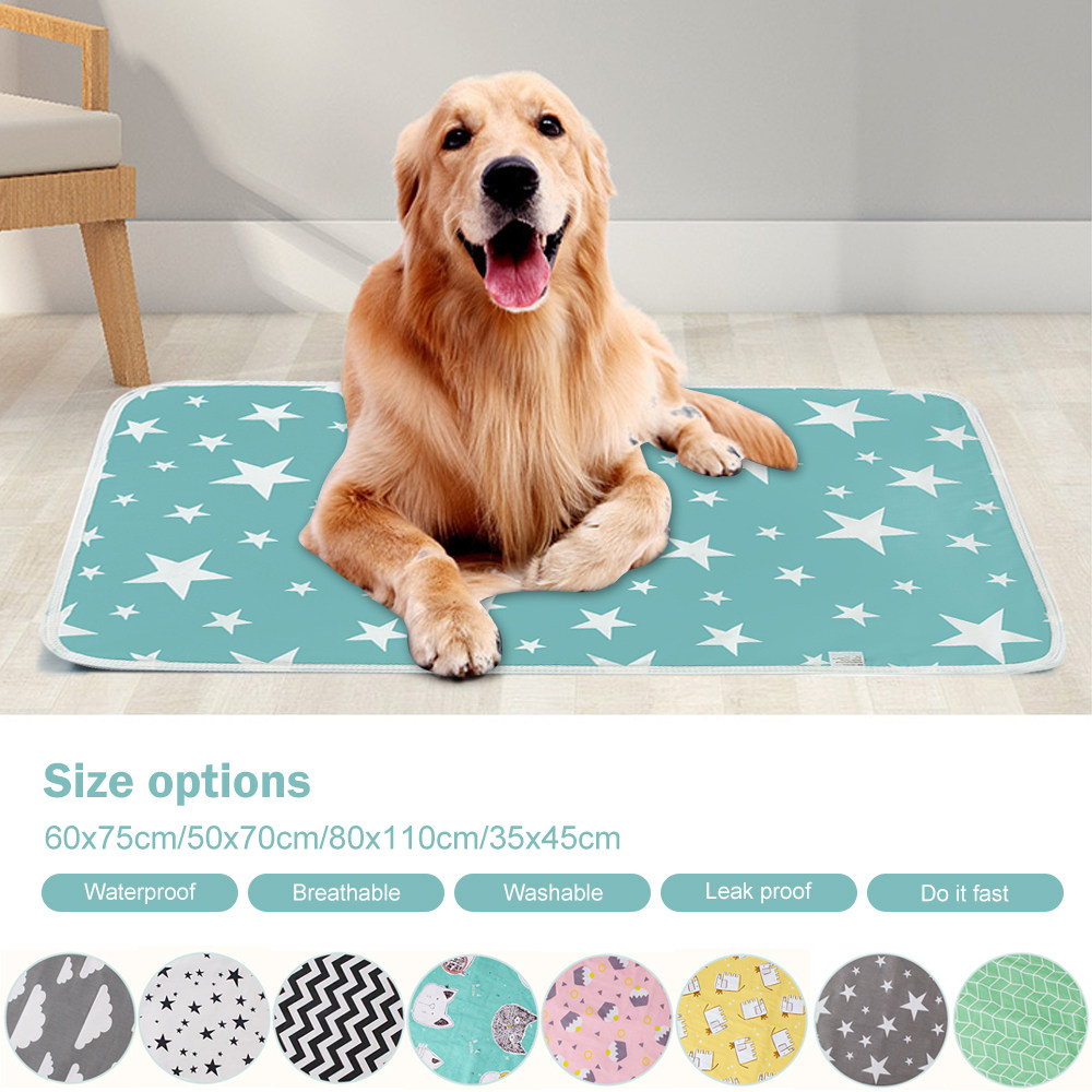 Dog Diaper Mat Absorbent Environment Protect Waterproof Washable Reusable Training Pad Dog Car Seat Cover Dog Pet Diaper Mat
