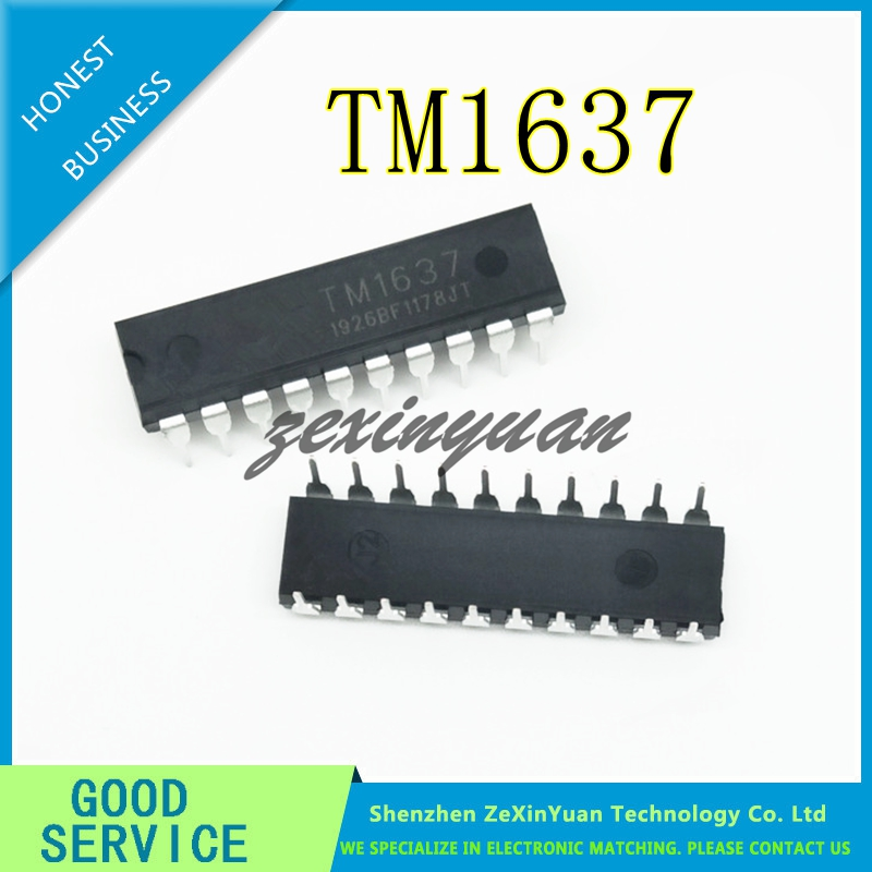 10PCS/LOT TM1637 DIP-20 1637 DIP DIP20 Integrated Circuit