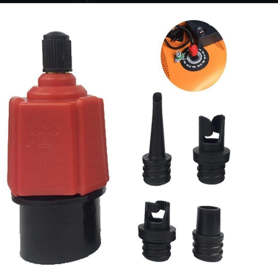 Pump Adapter 4-in-1 Air Valve Adaptor Paddle Board Kayaking Tool Airbed