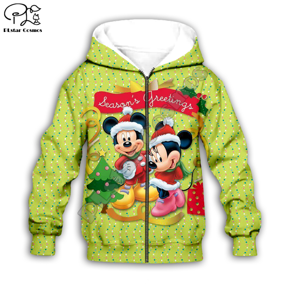 Kids Merry Christmas tree micky 3D print cartoon hoodies Santa Claus costumes kawaii Sweatshirts zipper boy girl tshirts Pant in Matching Family Outfits from Mother Kids