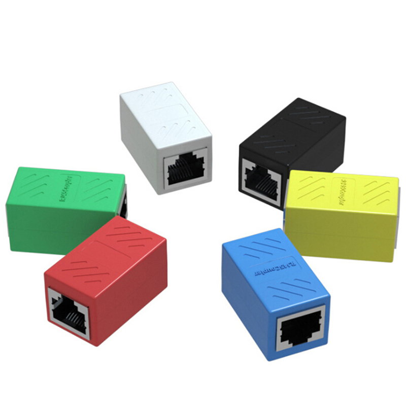 1 шт. RJ45 разъем адаптера Cat7/6/5E 8P8C Сетевой удлинитель для кабеля Ethernet