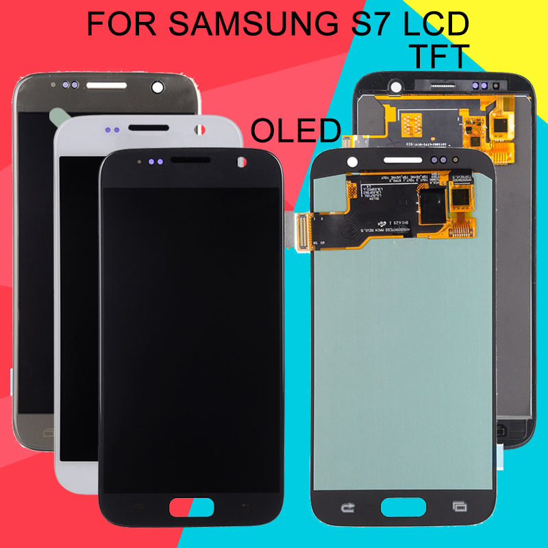 Dinamico Replacement S7 Display For Samsung Galaxy S7 LCD G930 G930F G930FD G930S G930L LCD Touch Screen Digitizer Assembly