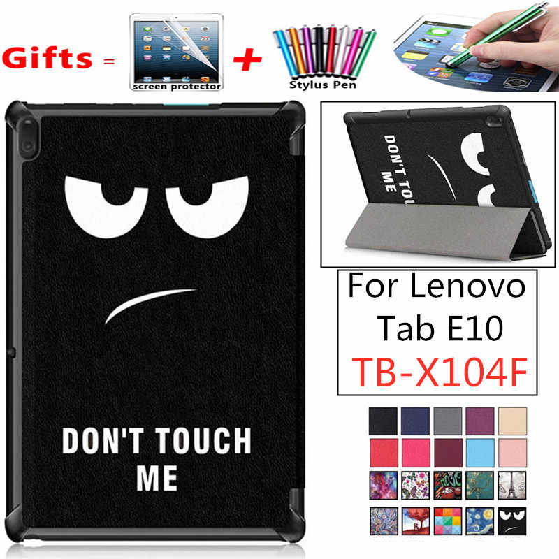 Voor Lenovo Tab E10 TB-X104F Case Tri-Fold Flip Stand Magnetische Cover Tab E10 E 10X104 X104f tablet 2019 TabE10 Slim Shell Cover