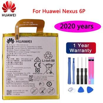 цена на Huawei 100% Original battery HB416683ECW 3450mAh for Huawei Nexus 6P H1511 H1512 Original Replacement Battery with Free Tools