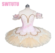 adult beige sleeping beauty ballet tutu nutcracker professional for performance or competition BT9044C