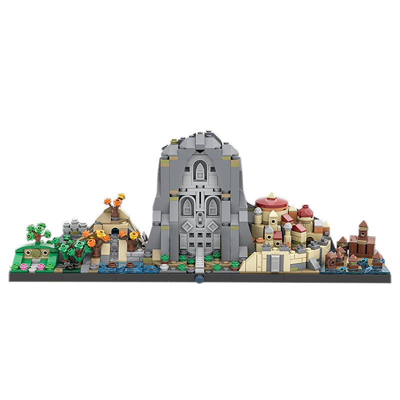 MOC Movies Scenes Static Decoration Model Educational Toys for Children Compatible Assembly Building Blocks Gifts 883 PCS Movie