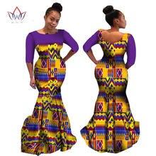 Африканское Хлопковое платье с круглым вырезом для женщин восковое