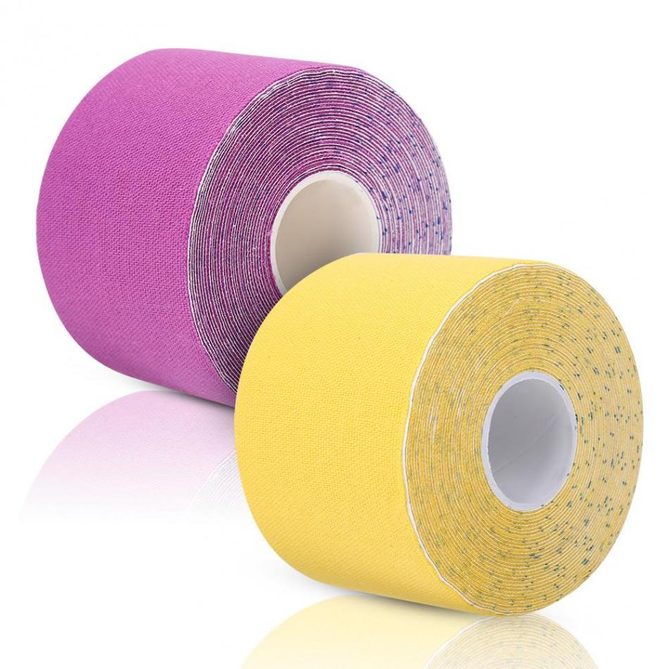 5Roll 5M*5CM Sports Elastic Cotton Adhesive Muscle Tape Physical Muscle Stray Injury Muscle Tape Strain Protection Tapes