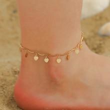 Love-Heart-Pendant-Anklets Leg-Jewelry Boho Charming Foot-Chain Beach Women Summer New