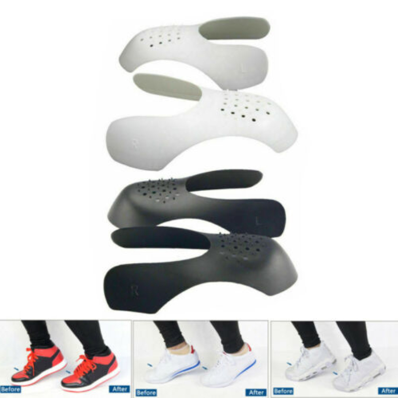 1 Pair Shoes Shields For Sneaker Anti Crease Wrinkled Fold Shoe Support Toe Cap Sport Ball Shoe Head Stretcher Shaper Protector