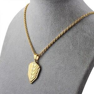 Collar de cadena de cuerda de oro trenzado 316L, collares con colgante de acero inoxidable para mujeres y hombres, accesorios de joyería de moda al por mayor personalizados