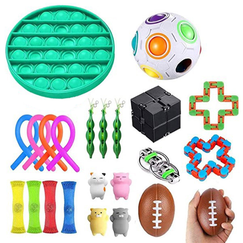 Sensory Fidget Toys Set Stress Relief and Anti-Anxiety Tools Bundle Stress Relief Hand
