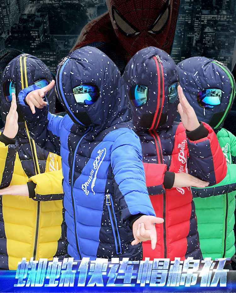 Hd4f37a825f884b21b1f42a50be1ed031O - Winter Warm Kids Boys Jackets With Glasses For Children Waterproof Cotton-Padded Parkas with Glasses Teenage Hoodies Coat