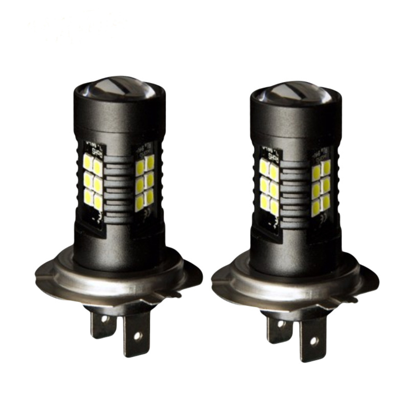 1PCS High Power Car LED H7 Led Headlight 3030 21SMD 21W Fog Lights 21W 6500K Daytime Running Light For Car Accessories