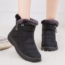 Snow Boots Plush Warm Ankle Boots For Women Winter Boots Waterproof Wom