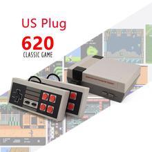 レトロミニテレビゲームコンソール8ビットハンドヘルドゲームプレーヤーavポート子供ビデオゲームコンソール内蔵500/620古典的なゲームギフトおもちゃ