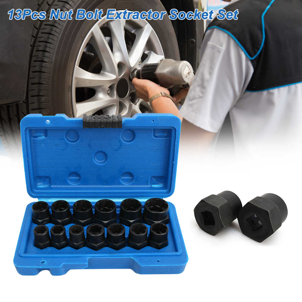 13pcs Nut Bolt Extractor Socket Set Damaged Rusted Bolt Removal Tools Hand Tool Sets Aliexpress