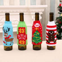 Christmas Bar Home Supplies High-end Knitted Beer Bottle Set Decoration  Straws