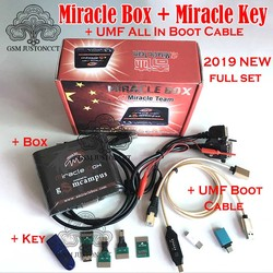 NEW Miracle Box with Miracle Key Dongle (4 Adapters Set) + UMF All Boot cable for china mobile phones Unlock Repairing unlock