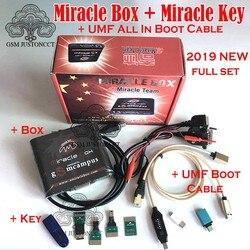 NOVA Caixa com Chave Milagre Milagre Dongle (4 Adaptadores Set) + UMF Todos Os cabo de Inicialização para china mobile phones Desbloqueio Reparação desbloquear