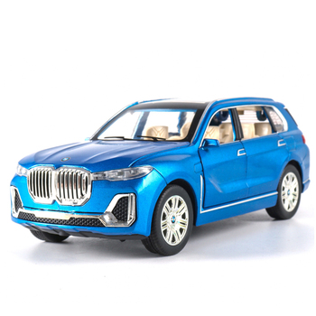 цена на KIDAMI 1:24 Alloy Car Model SUV X7 Diecast Metal Car Toys For Children Pull Back Toy Cars  Collection Kids Car Boy Toy Gifts
