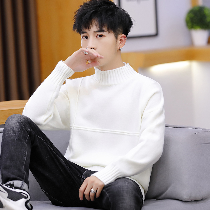UYUK2019 Autumn And Winter New Slim And Comfortable Quality Trend Handsome High Collar Men's Sweater Clothes Hombre Cotton