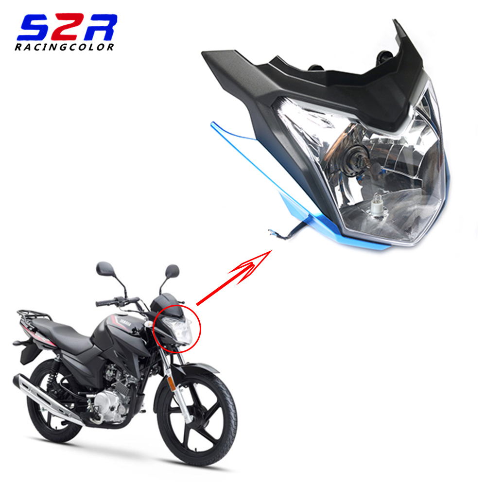 S2R Motorcycle Headlight Cowling Cover For YAMAHA YBR125 YBR125Z YBR 125Z YX 125 Z 2017 2018 Head Lamp Upper Outer Cover Parts
