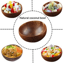 Mixing Bowl Tableware Coconut-Bowl-Set Salad Dessert Wood-Spoon Fruit Rice Natural Handmade