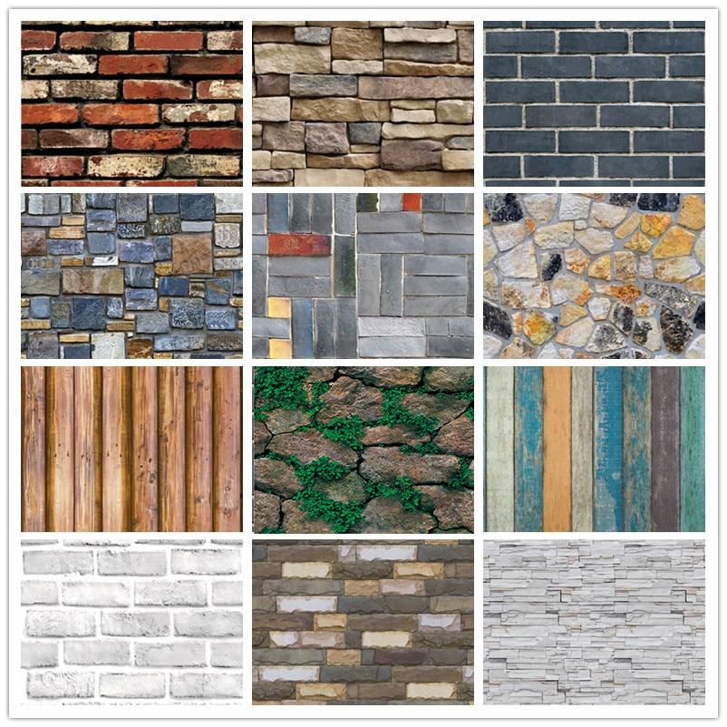 Decoração da casa 3d pvc grão de madeira papel de parede de pedra de tijolo papel de parede auto-adesivo sala de estar quarto papel de parede 3d decoração