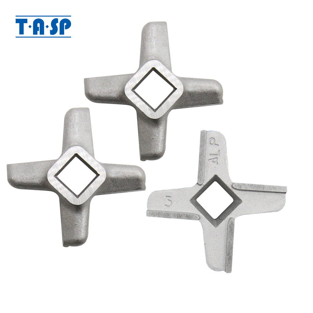 3 Pieces Meat Grinder Knife #5 Mincer Blade Spare Parts Replacement For Bosch MUM 4 MUM 5 MFW 15 Philips Siemens