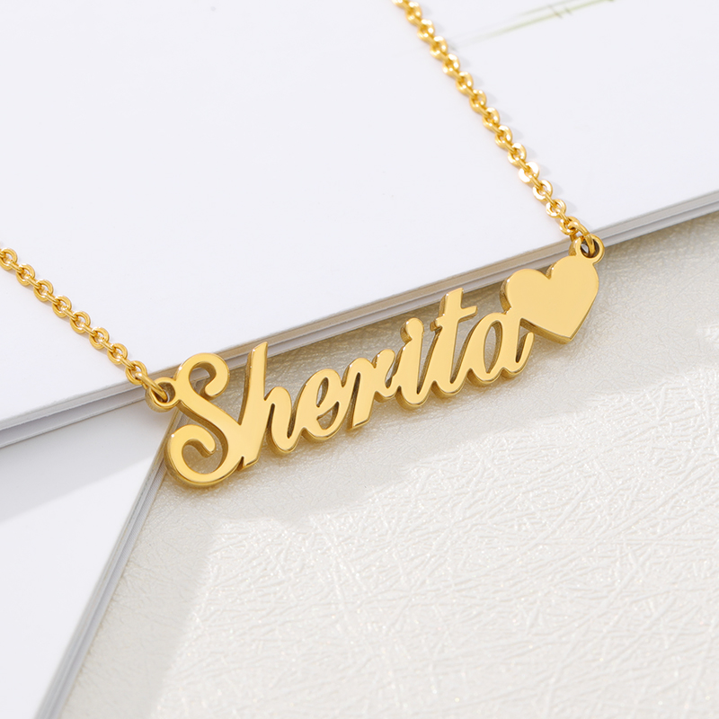 Personalized Jewelry Choker Stainless Steel Custom Name Necklace Men Handmade Nameplate Pendant Necklaces Women Best Friend Gift