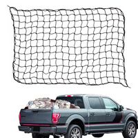 Universal Trunk Luggage Storage Cargo Organizer Nylon Stretchable Elastic Net with Clips Carabiners Car Interior Accessories
