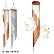 18 Tubes Wind Chimes Metal Wind Bells Nordic Classic Handmade Ornament Garden Patio Outdoor Wall Hanging Home Decor 90x120cm